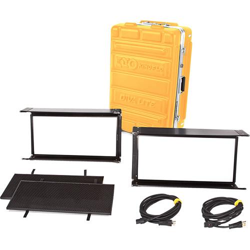 Diva-Lite 20 LED DMX Kit (2-Unit) w/ Flight Case, Univ 120U