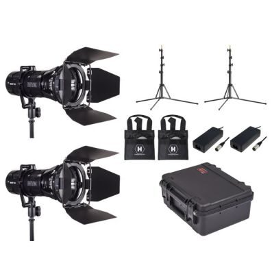 Hive Lighting Wasp 100-C LED Spot 2 Light Kit with 2 Lens Sets, 2 Stands and Case (Custom Foam)
