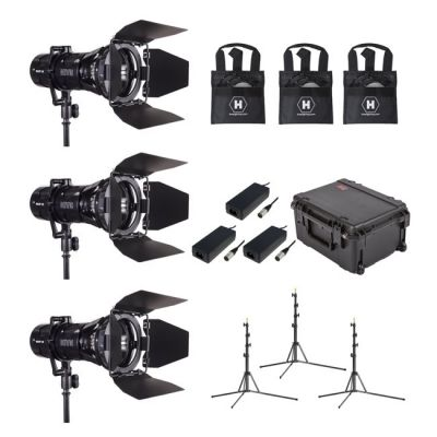 Hive Lighting Wasp 100-C LED Spot3 Light Kit with 3 Lens Sets, 3 Stands and Case (Custom Foam)
